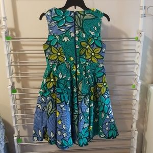 Woodin West African wax fabric dress